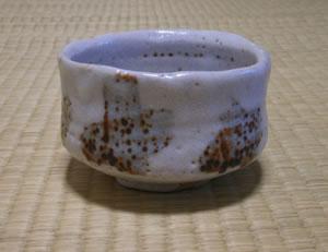 抹茶茶碗(志野)